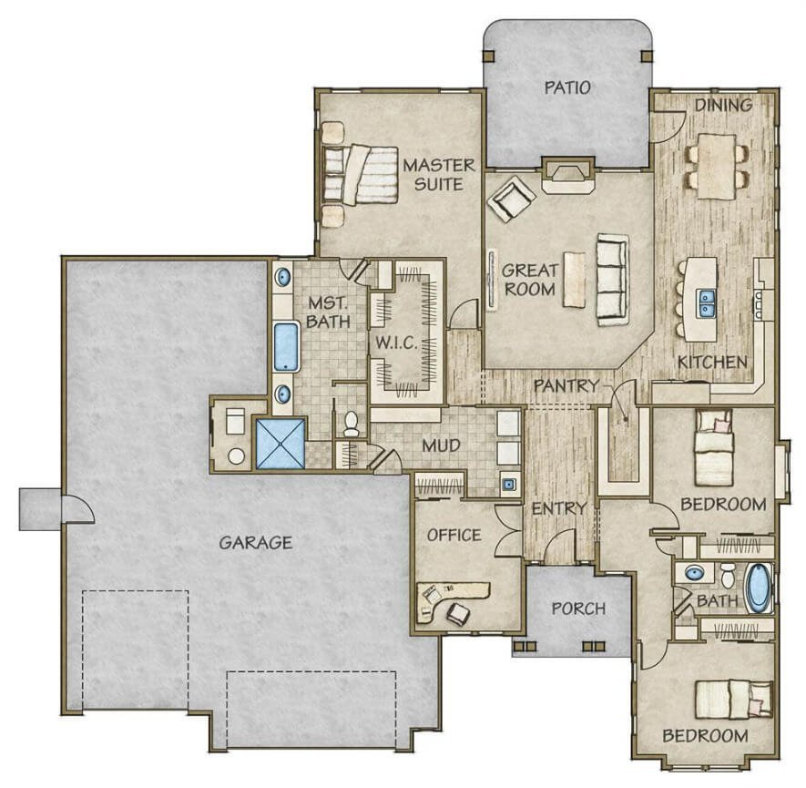 Ventura rv by todd campbell custom homes fall parade of for Custom design floor plans