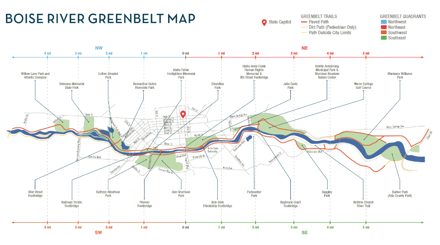 Boise River Greenbelt Map