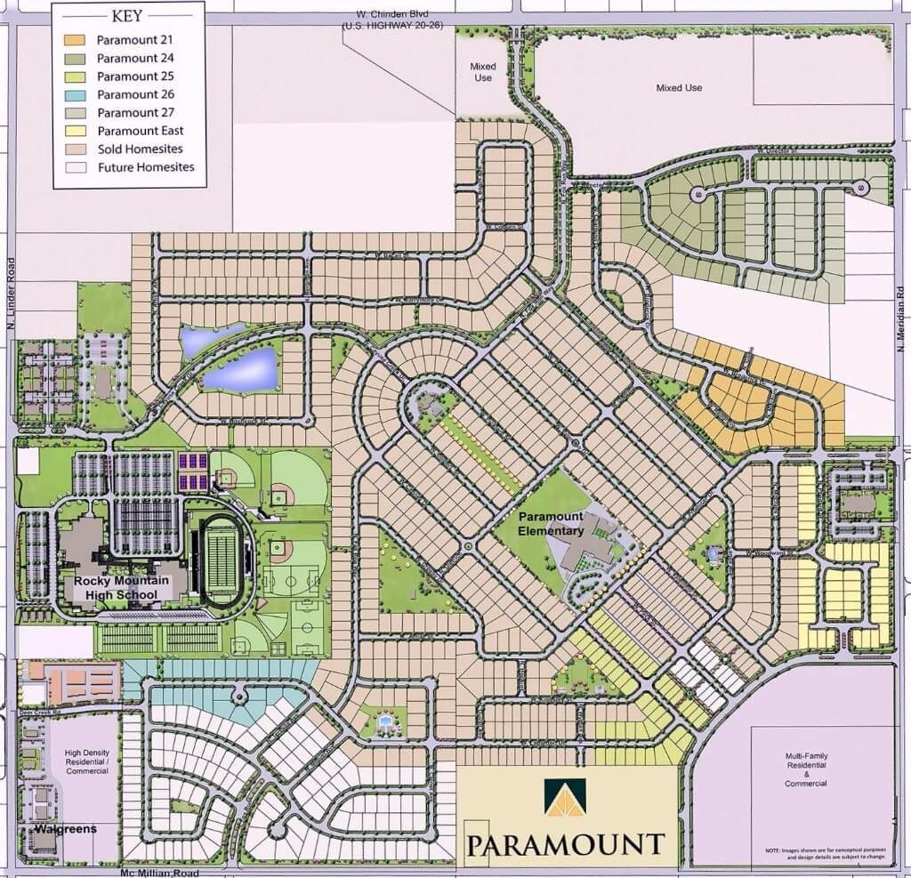 Paramount Subdivision Meridian Idaho - Paramount Homes for ...