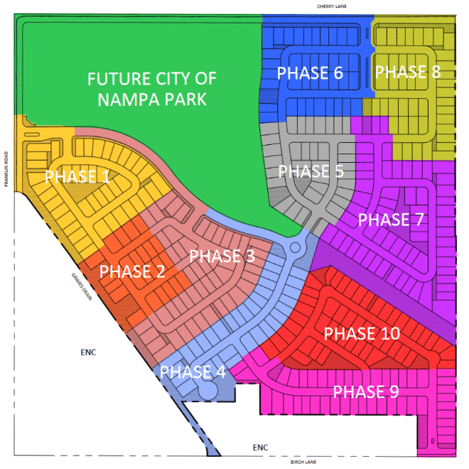Franklin Village Subdivision Nampa Idaho plat map