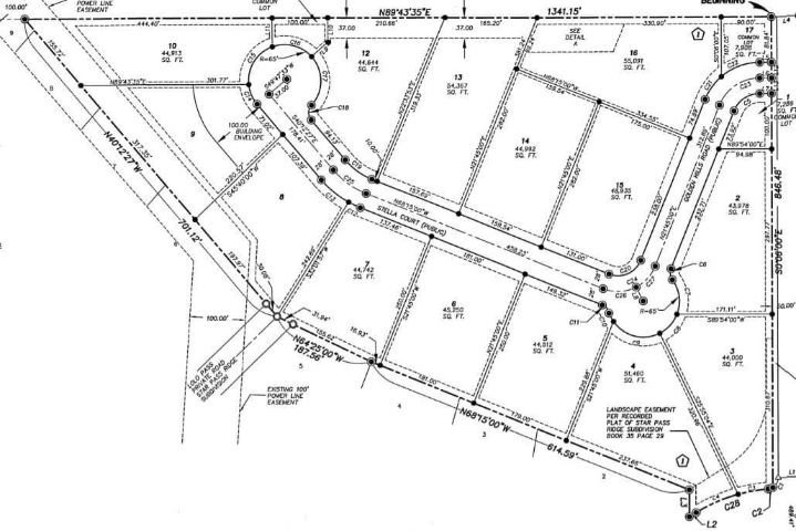 Golden Hills Estates subdivision plat map in Nampa, ID