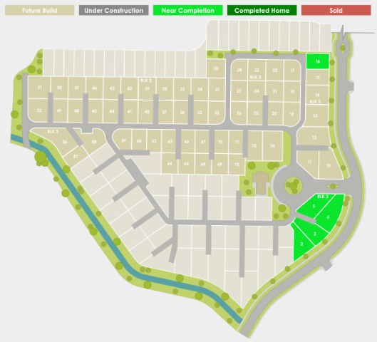 Movado Village plat map of available homes in Meridian, ID