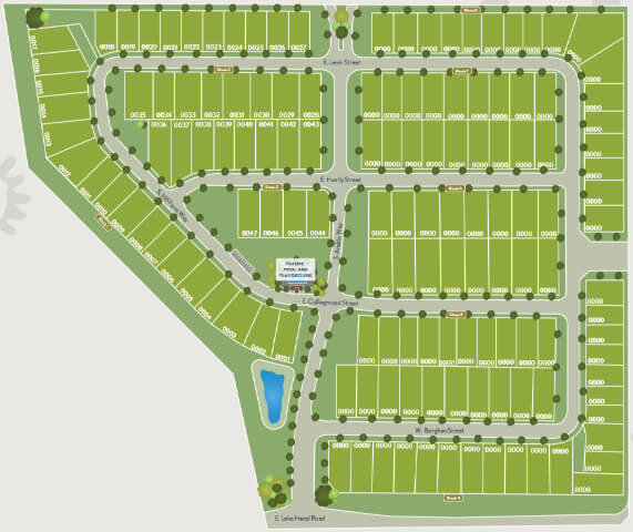 Orchard Creek Meridian Idaho plat map
