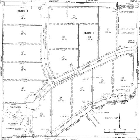 Plat map for Pear Lane Estate Caldwell Idaho