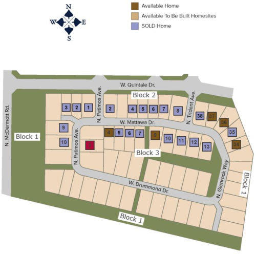 Reserve at Oaks West plat map