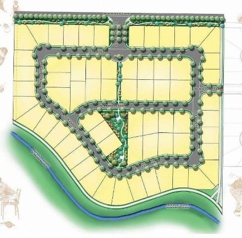 Plat map for Rockwell Village Nampa Idaho