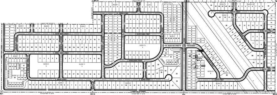 Rush Valley Subdivision Boise ID master plan