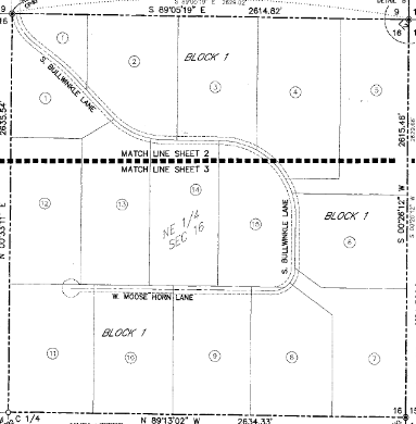Saddle View Estates Eagle Idaho plat map