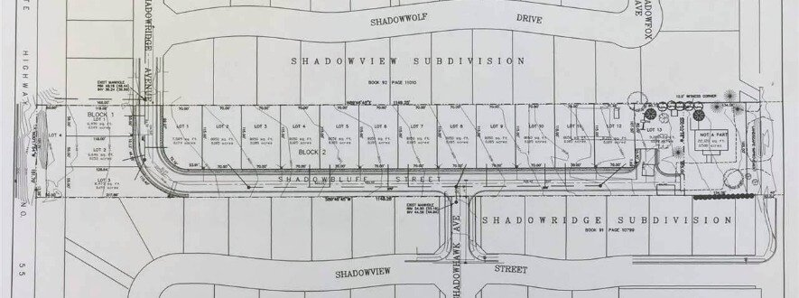 Shadowbluff Subdivision Eagle Idaho plat map