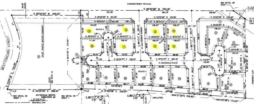 Westwood Subdivision Middleton Idaho plat map